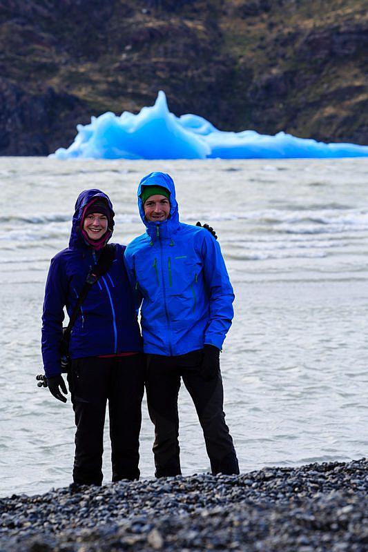 Abschiedsfoto vom Torres del Paine am Lago Grey